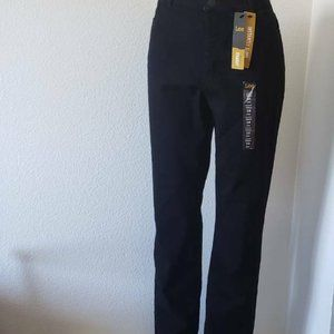 Lee Womens Straight Leg Denim Fit Black Jeans 16